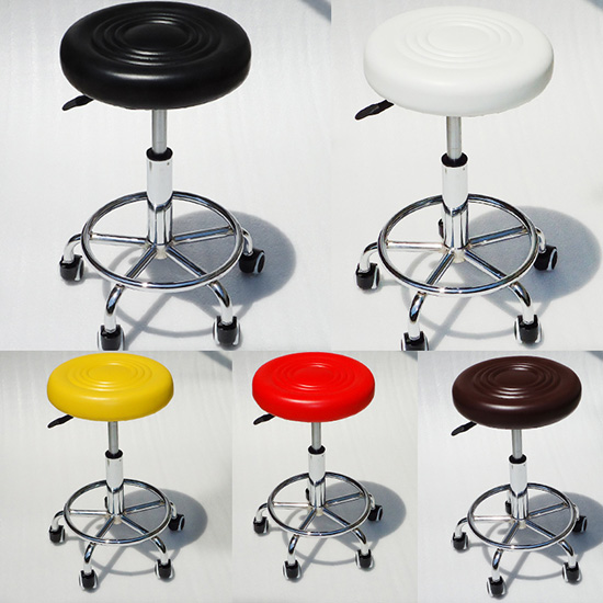 PU Surface Lab Stool with Wheels