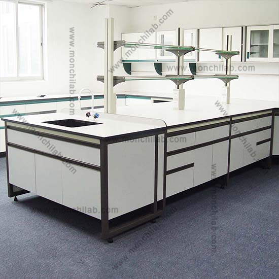 Chemical Resistant H-Frame Lab Workbenches