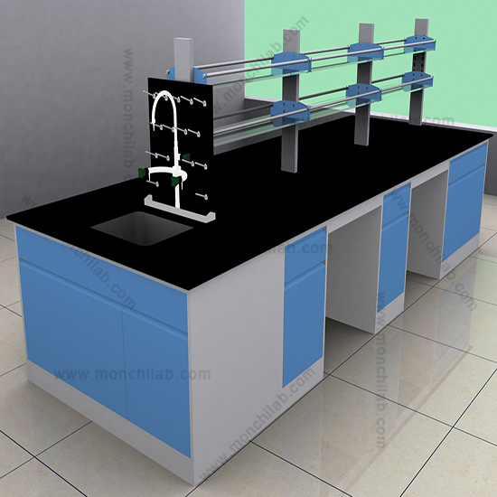 C-Frame Steel Lab Workstation with Sink and Faucet