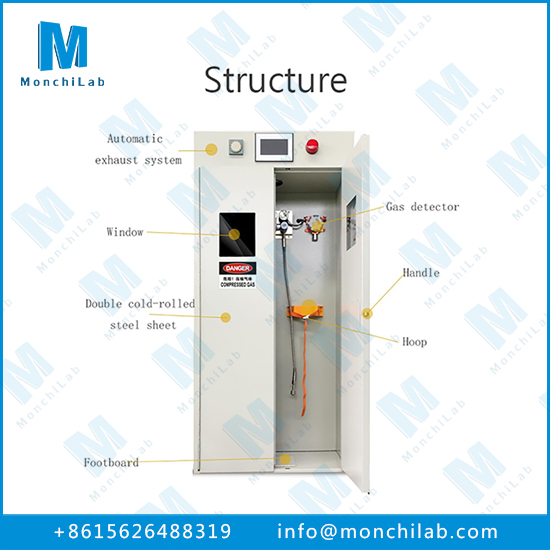 Gas Cylinder Storage Cabinet with Alarm System